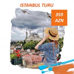 İstanbul turu 20-24 may 4 gecə/5 gün Qiymət:359 Azn Qiymətə