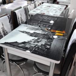 Türkiyə istehsalı kuxna üçün stol stul dəsti anbardan satış