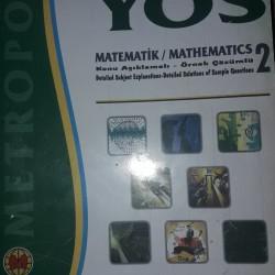 YÖS kitabı Metropol yayınları Matematik 2 konu anlatımlı