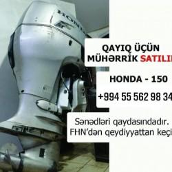 Təcili ! Honda 150 qayıq üçün motor satılır. 📑 SƏNƏDLƏRİ
