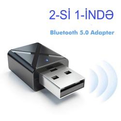 Yeni 2-si 1-ində Micro Bluetooth Adapter 5.0 Qebuledici və