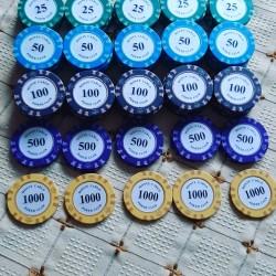 Poker oyunu üçün 14 gramlıq professional fiçkalar. 1-2 dəfə