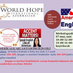 AMERİKALILARLA 0-DAN İNGİLİS DİLİ Humanitar təşkilatın bir