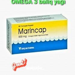 Turkiye istehsali omega3 baliq yagi 60 eded.Sifaris onceden