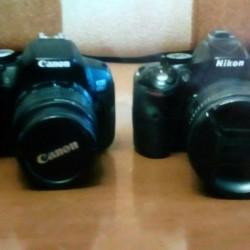 Nikkon D5200 ve Canon EOS 650D ikisi birlikde satilir