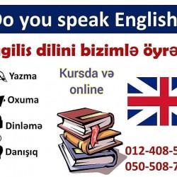 Kursda və online ingilis dili dərslərinə start verdik. Evde