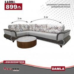DAMLA künc divan⤵️ 💸899₼ 📲0505987656, 0555987656 📐Ölçüləri:
