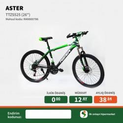 Velosiped Aster 26 TTZS525 Black-Green İlkin Odenissiz