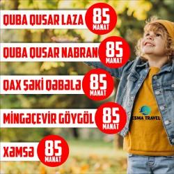 Avqust ayı üçün eksklüziv 1 gecə 2 günlük tur paketləri. .