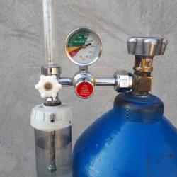 Oksigen balonu ( 40l ) ve Reduktor, Maska icareye verilir