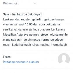 Salam Hal Hazirda Bakidayam saat 16:00 da Lokbatana gedecem