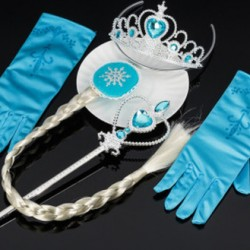 Аксессуары Эльзы Волосы, перчатки,корона,волшебная палочка