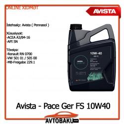 ▪ Avista - Pace Ger FS 10W40/1LT - 12AZN ▪ Avista - Pace