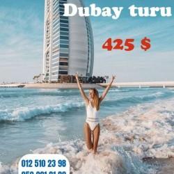 Dubay turu-425 $ Qiymətə daxildir: Aviabilet Otel