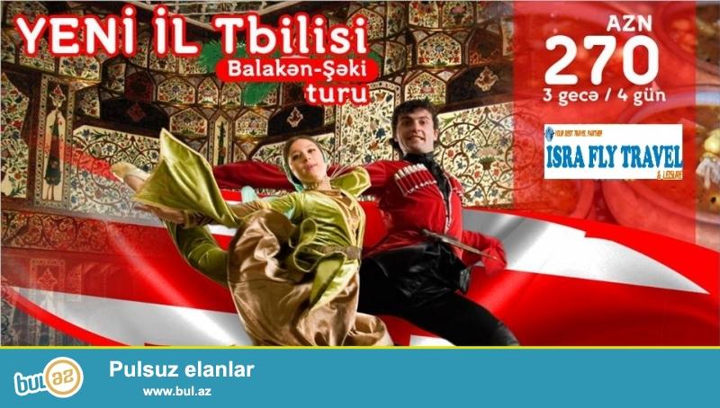 """eni il bayramınızı 4 günlük """"Tbilisi-Balakən-Şəki"""" turunda keçirtməyə nə deyirsiniz?<br /> Turu sifariş etmək üçün: (012) 596 11 96, (Daxili nömrələr: 201 və 203)..."""
