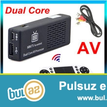 YENI<br /> TIPDAN VƏ PƏRAKƏNDƏ SATIŞ<br /> Mini smart tv (Yenilənmiş versiyası) MK808C Mini PC Cortex A9 Dual Core Android TV BOX 4...