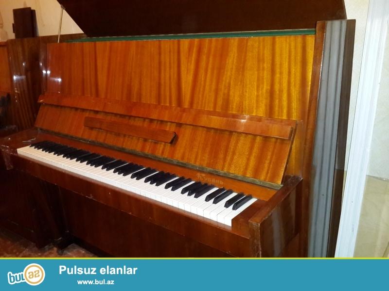 qehveyi rengli 2 pedall ,yunost pianinosu .yaxs vziyyetdedir