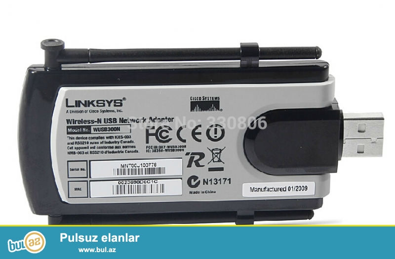 LinkSys Cisco USB WIFI. Kompüter və notbuklar üçündür...
