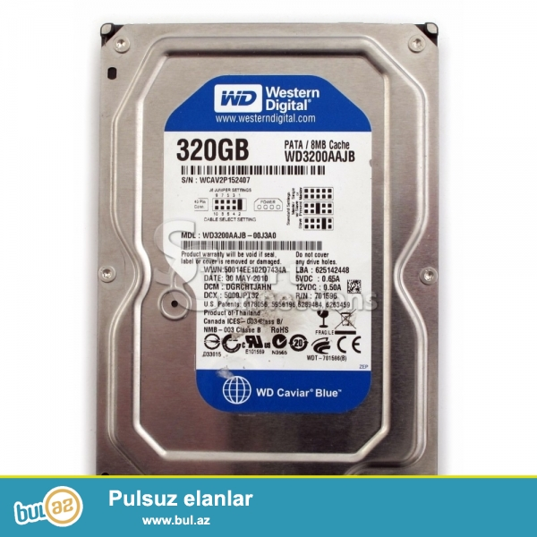 "Western Digital HDD 320Gb 3.5"" 7200rpm. <br />