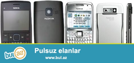 NoKia x2-01 ve Nokia e71 SMARTPHONE!<br /> x2-01 35 manat<br /> e71- 45 manat<br /> ikisini alana endirim