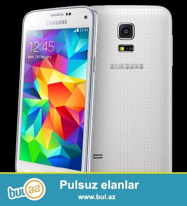 Samsung Galaxy s5 ag rengde satiram. Tam original ve 1 il international qarantiya ile<br /> <br /> Barter edilmir<br /> <br /> Zeng ve ya watsappla elaqe yarada bilersiniz