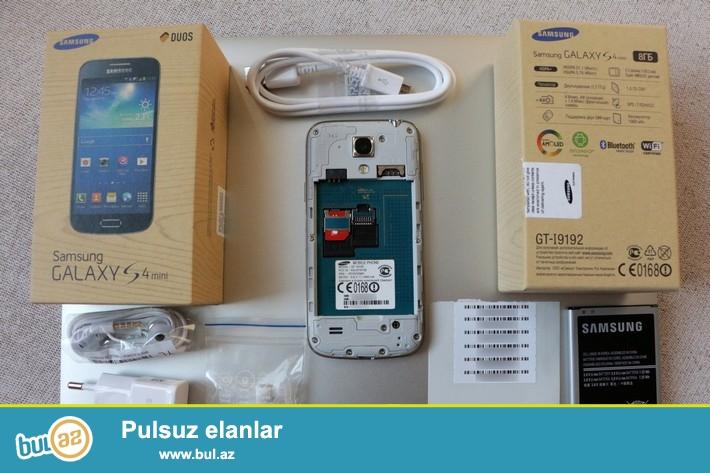 Samsung S4 mini dual sim satiram.Ag rengdedir.Əla vəziyyətdədir...