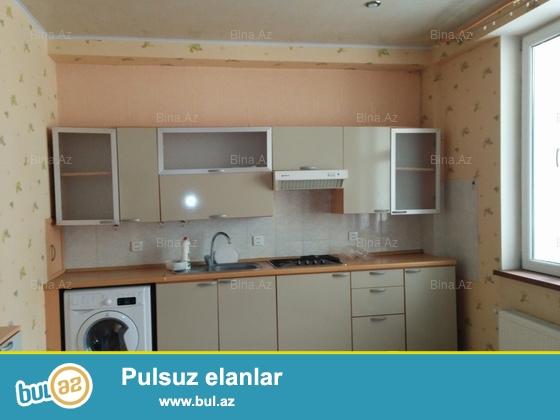 двух комнатная квартиа с ремонтом в Ени Ясамал на конечной остановке 77-го автобуса...