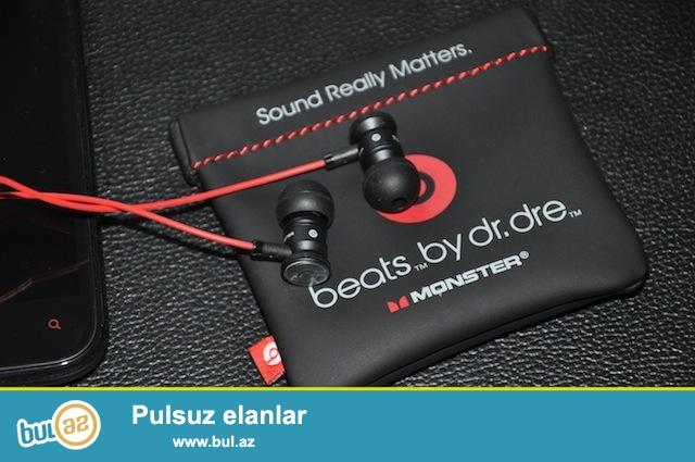beats by dr.dre qulaqlıq (Original)<br /> Əlavə qullaqlıqları var...