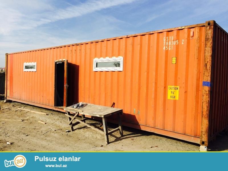 12 metre (40 fut) ve 6 metre (20fut) konteynerlerin satishi,her olcude ofislerin sifarishle hazirlanmasi ve unvana chatdirilmasi ...