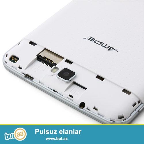 """YENİ ORİFİNAL NÖMRƏLİ PLANŞET TELEFON.TOPDAN VƏ PƏRAKƏNDƏ SATIŞ<br /> Növü:Planşet<br /> Yaddaş tutumu:4GB<br /> Şəbəkələr:Bluetooth,Wifi<br /> Ekran ölçüsü:7""""<br /> Portlar:3G Xarici,DC port,Qulaqcıq port,OTG port ,TF kart port,USB port<br /> Brand:Ampe<br /> Qutusu:Var<br /> Çəkisi:290g<br /> Dil:English,Russian,Spanish,Swedish,Portuguese,Turkish,Italian,German,Chinese,French,Japanese,Polish,Ukrainian,Greek,***rew<br /> Kamera:2 kamera<br /> Processor:Dual Core<br /> Digər funksialar:GPS,Taç ekran,G Sensor,Zəng,OTG<br /> Ram:512MB<br /> Arxa kamera:3MP<br /> Sistem:Android 4..."""