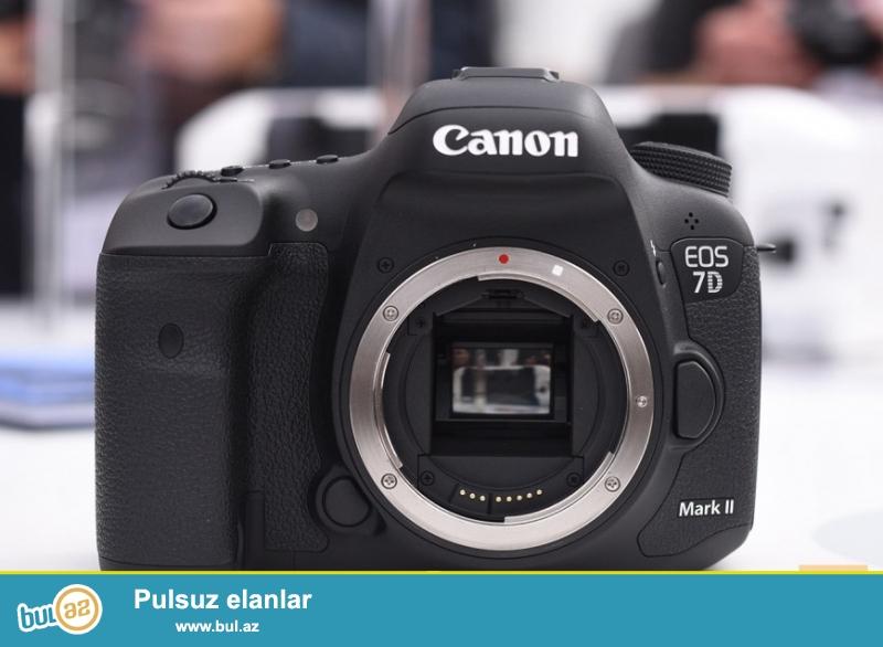 Yeni Canon 7D Mark ii modeli. yapon istehsali.tecili satilir. 18-135 STM lensle birlikde