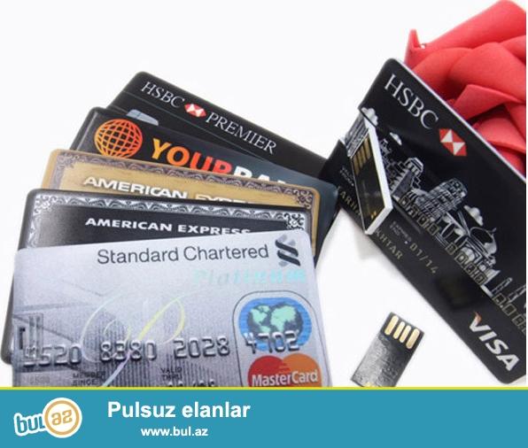 Bankomat kartı formasında 2gb-lıq Flash kart. Portmanadınıza yerleşebilecek incelikdedir...
