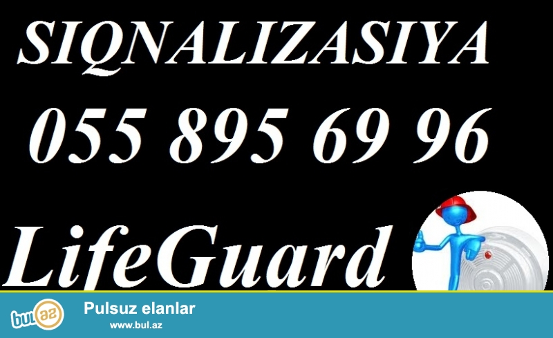 Alarm sistemi, siqnalizasiya. <br /> <br /> LifeGuard firmasi Size alarm sistemleri (siqnalizasiya sistemleri) teklif edir...