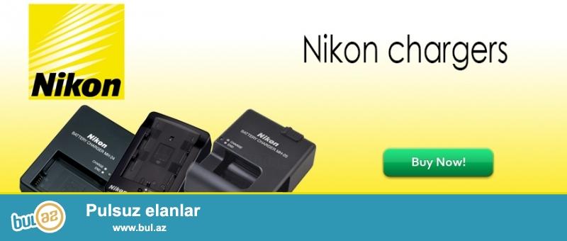 Nikon<br /> MH-18 - Nikon D200 D300 D50 D70 D700 D70S D80 D90                                          - 35manat<br /> MH-23 - Nikon D40 D40X D60 D3000 D5000                                                                - 35manat<br /> MH-24 - Nikon   P7000 P7100 D3100 D3200 D3300 D5100 D5200 D5300              - 35manat<br /> MH-25 - Nikon  D600 D610 D800 D800E D7000 D7100                                              - 40manat<br /> <br /> (və digər aksessuarların satışı...