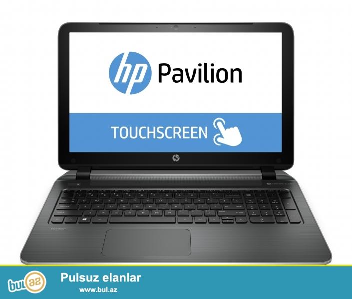 Yeni Yeni Yeni !  HP PAVILION  TouchScren  Sensor ekran !!!!   8  eded Tezze karopkada ,  bu qiymete hec bir yerde ola bilmez,   <br />  <br />  <br /> Processor Core i5 4210U   1...