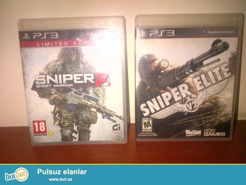 PS3 oyunlari satilir SNIPER2 ve Sniper ELIT.  ve ya BLUR ile deyiwdirilir...