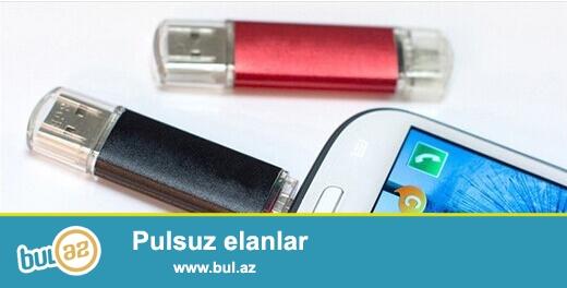 Samsung telefon ve tablet üçün melumatların ötürülmesi lazım olan USB Flaş...