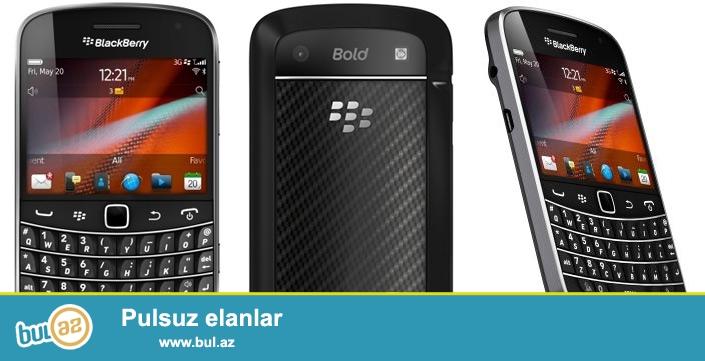 Blackberry 9900 <br /> <br /> En Nazik, En Suretli Blackberry Bold seriyasindan 9900<br /> Xususiyyetleri:<br /> Olculeri (en x uzunluq x qalinliq): 66mm x 115mm x 10...