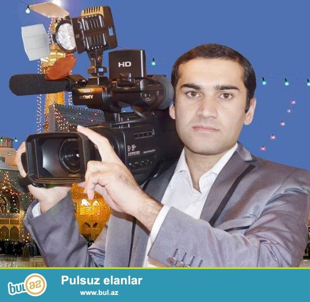 Toy,Nişan,Ad günü,Xna yaxdı,məclislərində Professonal kamera ilə peşəkar Video çəkliş...