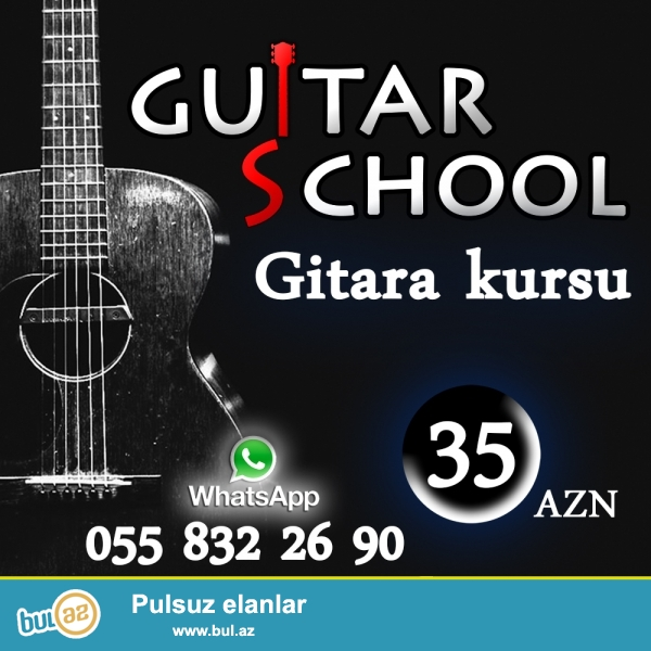 Yuksek seviyyede gitara dersleri kecirilir. Qisa muddet (4-5 ay ) erzinde gitranin inceliklerini oyrene bilersiniz...