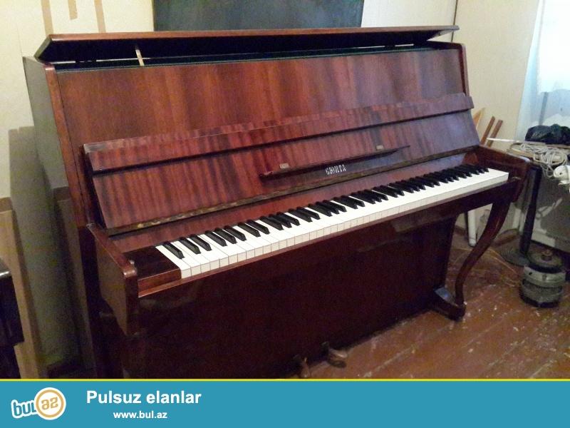 qehveyi rengde 3pedalli lirika pianinosu ela veziyyetdedir