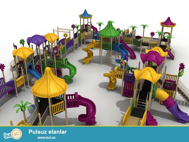 Şirketimiz çocuk oyun parkları, kaydıraklar, zıpz-zıplar, salincaklar, dış mekan spor aletleri, piknik masaları, çardaklar, çöp kovaları, işıqlandırmalar ve s...