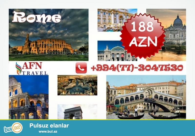 """Hörmətli Dostlar! <br /> AFN Travel şirkəti sizi """"Novruz Bayramı """" turunu Romada keçirtməyi təklif edir..."""
