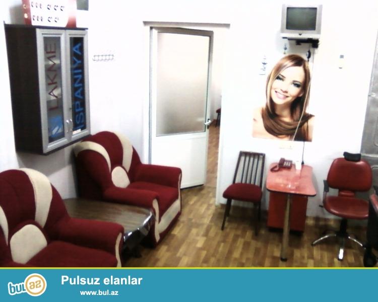 Nərimanov rayonunda,Şərq bazarının yanında  10 ildir işləyən gözəllik salonu satılır...