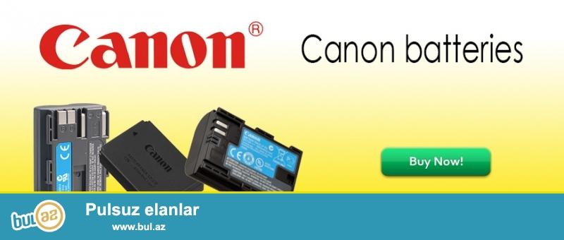 Canon Nikon batareykaları (Batteries)<br /> Canon<br /> LP-E4 - Canon   EOS 1D 1Ds Mark III IV 1DX 1Ds3 1D3 1D4                - 55manat<br /> LP-E5 - Canon   EOS 450D 500D 1000D                                                   - 35manat<br /> LP-E6 - Canon   EOS 5D2 5D3 7D 6D 70D 60D                                        - 40manat<br /> LP-E8 - Canon   EOS 550D 600D 650D 700D X4 X5 x6i                          - 35manat<br /> LP-E10 - Canon  EOS 1100D 1200D                                                           - 35manat<br /> LP-E12 - Canon  EOS M M2 100D                                                              - 35manat<br /> BP-511A - Canon   EOS 300D 10D 20D 30D 40D 50D D30 D60 5D       - 35manat<br /> <br /> <br /> (və digər aksessuarların satışı...