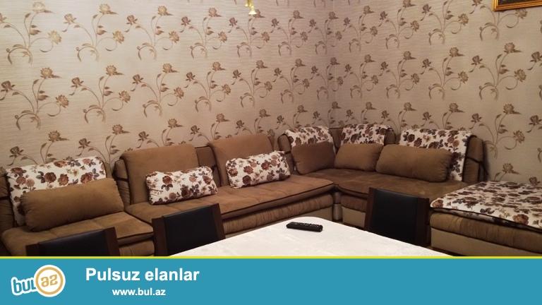 Впервые!!!После ремонта никто не жил!!!Вся мебель новая!!!Cдается 3-х комнатная квартира в новостройке, в поселке Бакиханова, рядом с Исполнительной Властью...
