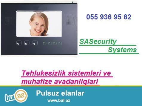 Tehlukesizlik / Domofon / fotoyaddasli domofon, videoyaddasli domofon<br /> <br /> Size Wi-Fi domofonlar teklif edirik...