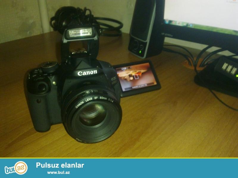 Canon EOS 600D 400AZn canon EF 50mm 1:1.4 obyektiv 300 azn təzədir istifadə olunmayıb təcili satılır