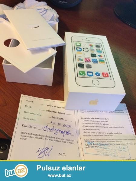 Iphone 5s 16 gb gold Caspian Mobile dekabrin 20 si Integral Plusdan alinib + ilin sonuna kimi qarantiyasi var problemsizdir 1 noqte bele yoxdur + tezeden secilmir qetiyyen shekil qoymaga ehtiyac yoxdur , barter olunmur iphone 6 alindigi uchun satilir , xanim ishledib <br /> <br /> 055 376 40 20 whatsapp ne vaxt isteseniz yaza bilersiniz ! qiymet 430 manat