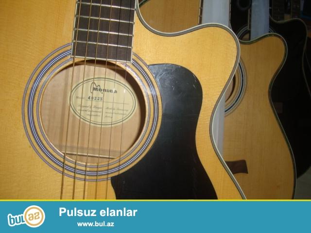 Mehsur MONICA firmasina mexsus CG 4122, CG 4022 ve 4105 modelli canagi standart ve boyuk akustik gitarlar...